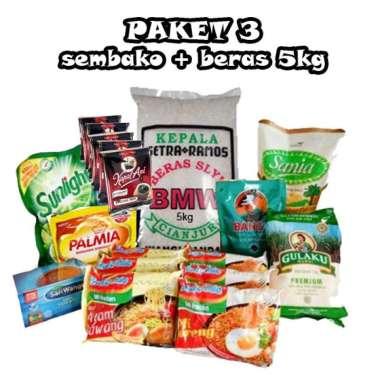 #3 Paket Sembako (beras gula kopi) hampers parsel belanja bulanan lengkap