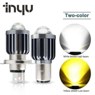 harga FREE ONGKIR Lampu Kabut Depan Led H6 Ba20D H4 Dengan Lensa Dua Warna Untuk Aksesoris Sepeda Motor Blibli.com