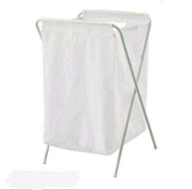 harga Ikea Tempat Baju Ikea Cucian Laundry Bag With Stand Portable White 70L Blibli.com