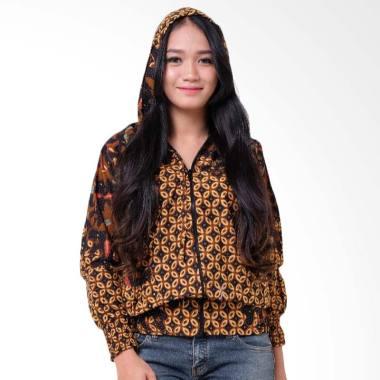 Batik Distro T1232 Jaket Batik Wanita - Coklat