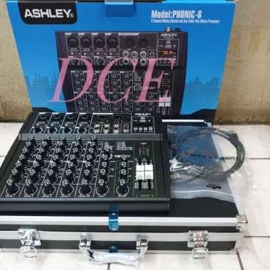 harga Mixer Audio ASHLEY PHONIC6 PHONIC 6 6CH Free Koper Original MULTICOLOUR Blibli.com