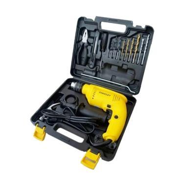 Stanley SDH600KV-B1 Hammer Percussion Drill Value Pack Mesin Bor - Kuning [13 mm/ 550W]