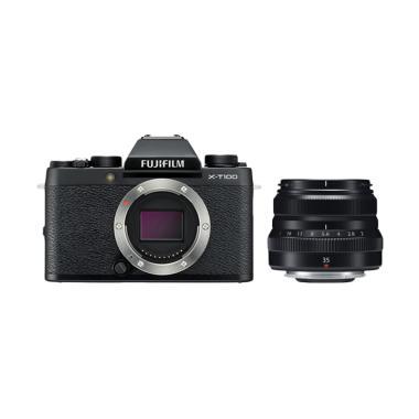 Fujifilm X-T100 Kamera Mirrorless [Body Only] + XF35mm F2 Lensa Kamera