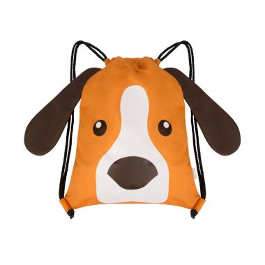 578f415584f7 WIGGLO Doggy Drawstring Bag - Orange Brown