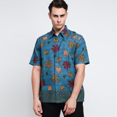Batik Adikusuma Men Katun Hem Batik Pria - Hijau [542124048]
