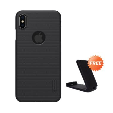 Nillkin Frosted Shield Hardcase Casing for Apple iPhone XS Max 6.5 Inch + Free Kickstand