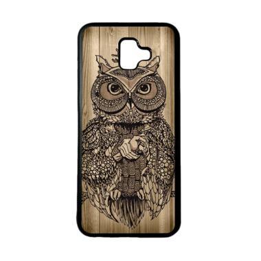 harga HEAVENCASE Motif Burung Kayu Owl Wood Softcase Casing for Samsung J6 Plus - Hitam Blibli.com