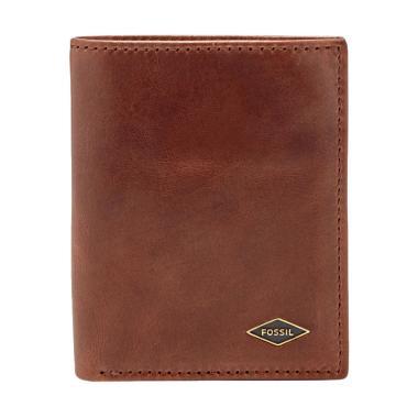 harga Fossil Ryan RFID Coin Case Wallet with Tin Box - Dark Brown [ML3731201] Blibli.com