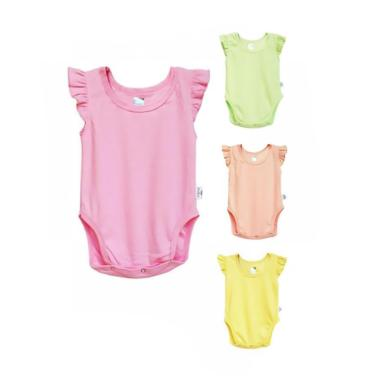 Kazel Ruffle Girl Set Jumper Bayi [4 Pack]