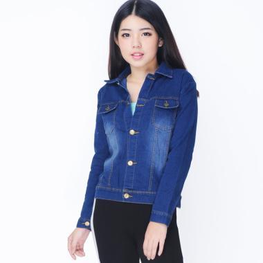 Jfashion Raline Jeans Washed Tangan Panjang Jaket ... 40201c8c2f