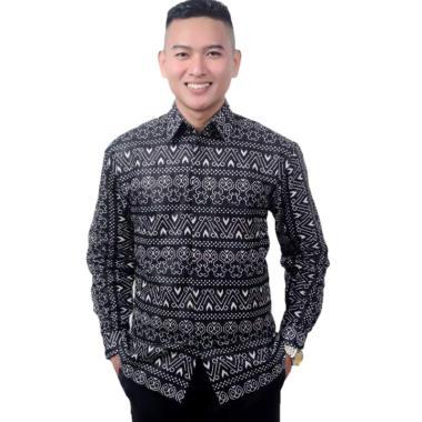 harga Batik Prass Motif Songket Kemeja Batik Pria Lengan Panjang Blibli.com