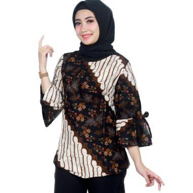 Mussda Batik Motif Seno Atasan Batik Wanita Brown