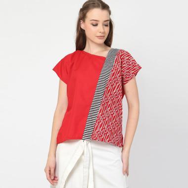 Batikbyshee Cherly Top Atasan Batik Wanita Red