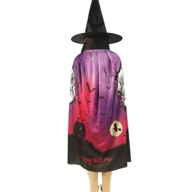 harga Bluelans Halloween Pumpkin Skull Ghost Pattern Cloak Hat Cosplay Party Costume Robe Cape 1 Blibli.com