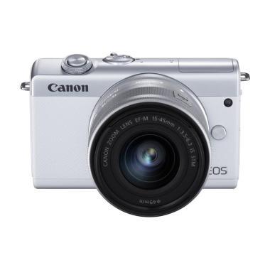 harga DOSS Canon EOS M200 EF-M 15-45mm IS STM Kit Kamera Mirrorless GARANSI RESMI WHITE Blibli.com
