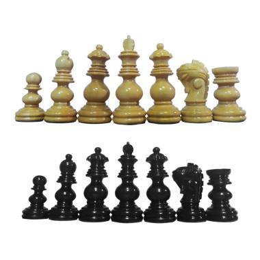 Planet Chess Bidak Catur Kayu Mentaos Model India