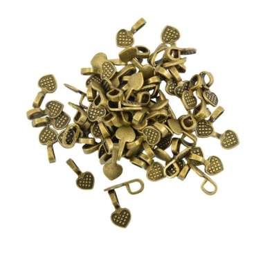 harga OEM Heart Shape Bronze Style Glue-on Flat Pad Bails For Craft Pendants [100 Pcs] Blibli.com