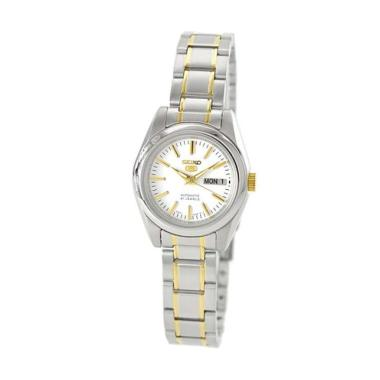Seiko 5 SYMK19K1 Automatic Silver Gold Stainless Steel Woman Watch Silver Gold