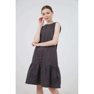 Berrybenka Judith Polka Gathered Dress