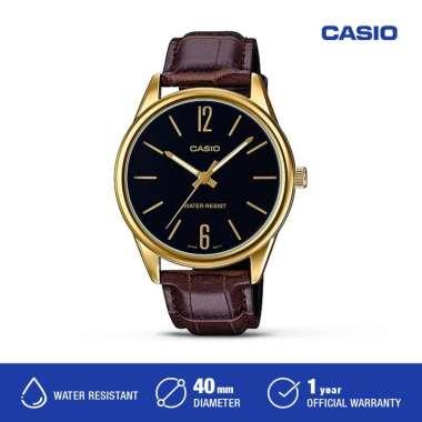 Casio MTP-V005G-7BUDF Analog Jam Tangan Pria Original coklat hitam