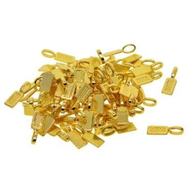harga 50pcs Golden Plated Glue On Bails Cabochon Charms Pendant Necklace Accessory Blibli.com