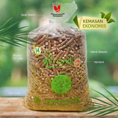 harga Pasir Kucing | Wood Pellet | Merk KETZ WOODZ kemasan ekonomis 14 Liter 10 kg coklat Blibli.com