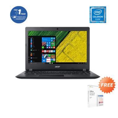 Acer Aspire A314-32-C0HM_2 Notebook - Black [14 Inch/N4120/4GB/256GB SSD/NoODD/Win 10/OHS 2019/UN.GVYSN.006] + Free 1Yr Ext Warranty + Bag