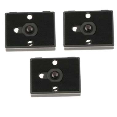 harga 3x Tripod Quick Release Plate for Manfrotto 200PL-14 390RC 488RC2 322 RC2 - Blibli.com