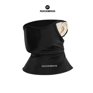 harga Rockbros LF7813 Face Mask + Filter Ice Silk- Masker Sport Sepeda Black HITAM Blibli.com