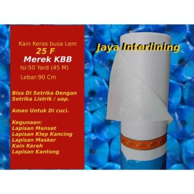 harga Kain Keras Interlining Busa Lem 25F Kuralon kain filter Meteran PUTIH Blibli.com