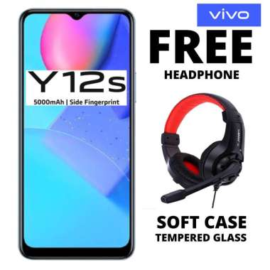 harga Vivo Y12S 3-32 GB Free Headphone BIRU Blibli.com