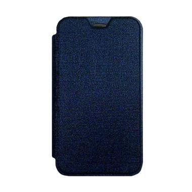 DYVAL Flip Cover Casing for Advan i5C - Biru tua