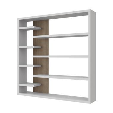 JYSK Room Divider Cosmo Rak Buku - White Oak