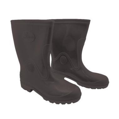 Steffi Karet Sepatu Boots - Hitam [Tinggi 29.5 cm]