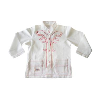 Rafifa Panjang Model B Baju Koko Anak - Putih Gading