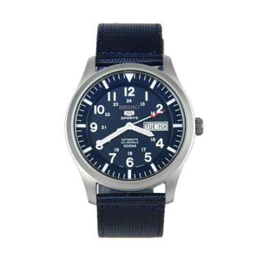 Seiko 5 Military Automatic Sports - ... K1 - Tali Nylon Biru Navy