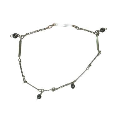 Spicegift Plate Beads Gelang Kaki Baja Putih