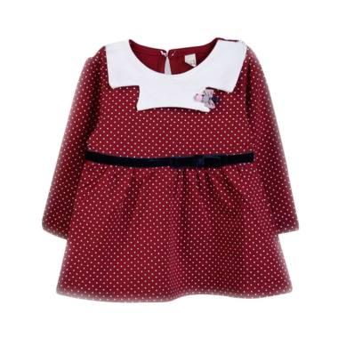 harga Chloebaby Shop F976 Polkadot Dress - Red XL Red Blibli.com