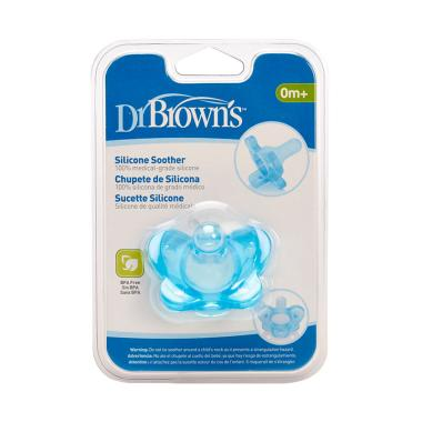Dr. Brown's Stage 1 One Piece Pacifier - Blue [0-6 Months]