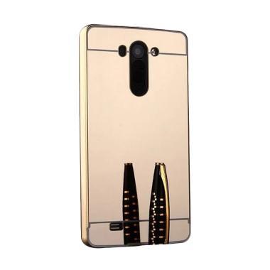 Jagostu Bumper Mirror Casing for LG G3 Stylus - Gold