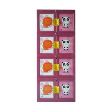 Venus Plastik Lemari Pakaian - Pink [4 susun]