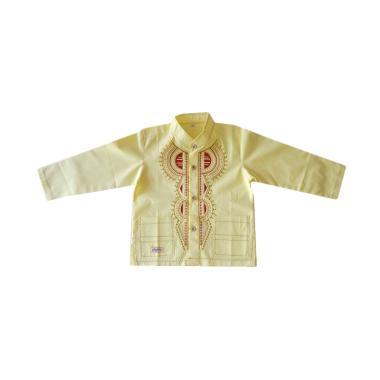 Rafifa Koko Panjang Model C Baju Koko Anak - Kuning