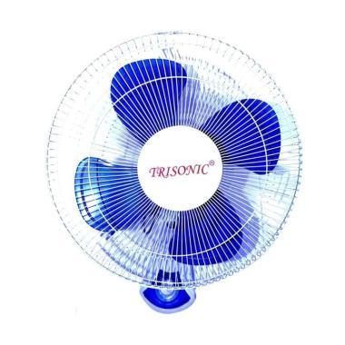 Trisonic Wall Fan 1607 Kipas Angin - Biru [16 Inch]
