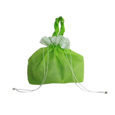 uNiQue Spunbag Serut Goodie Bag - Hijau [1 Lusin]