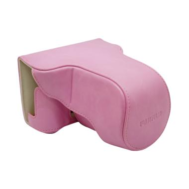 Leather Case for Fujifilm X-A3 - Pink Instaxshop