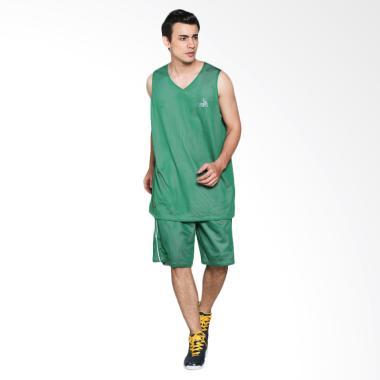 PEAK NEW Kaos Two Side Jersey Basket - Green White [1 pair] F751121