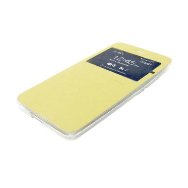 Ume Leather Flip Cover Casing for VIVO Y15 - Emas
