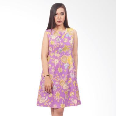 Batik Kusuma Sari ATBM Dobi Dress - Purple Pink