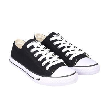 Kappa K11BFC918 Simple Low Sepatu Pria - Black White