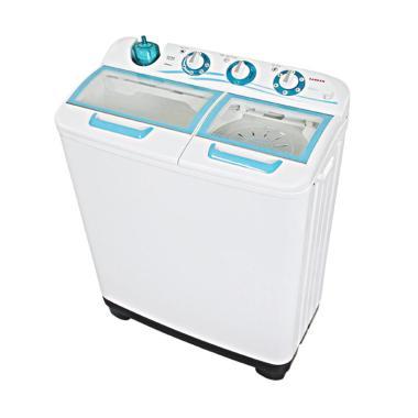Sanken TW-1122GX Mesin Cuci - Putih Hijau [2 Tabung]